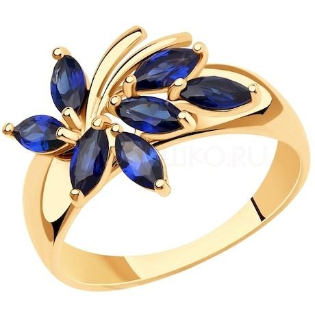 Кольцо из золота с корундами 716015