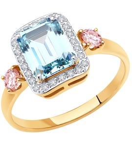 Кольцо из золота с фианитами Swarovski 81010500