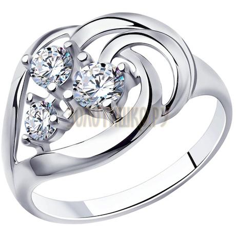 Кольцо из серебра с фианитами 94-110-00542-1