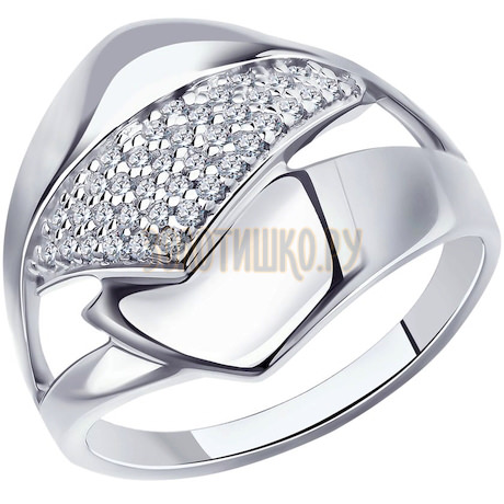 Кольцо из серебра с фианитами 94-110-00681-1