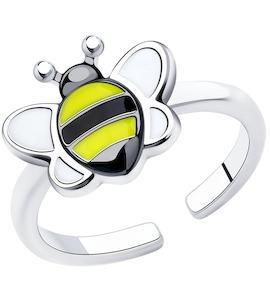 Кольцо из серебра с эмалью 94013167
