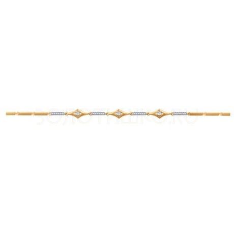 Браслет из золота с фианитами 050950-4