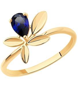 Кольцо из золота с корундом 716215