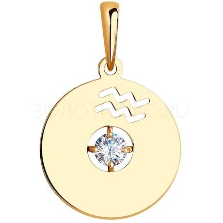 Подвеска из золота с фианитом Swarovski 81030189