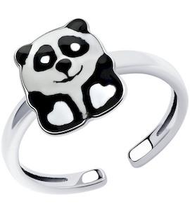 Кольцо из серебра с эмалью 94013239