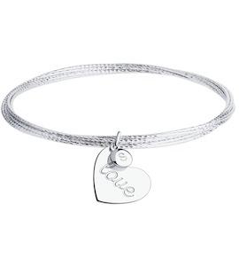 Браслет из серебра с алмазной гранью 94050722
