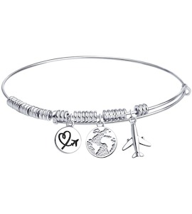 Браслет из серебра с эмалью 94050735