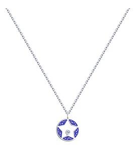 Колье из серебра с эмалью и фианитом 94070265