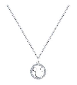 Колье из серебра с эмалью и фианитами 94070423