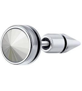 Серьга из серебра с эмалью и кристаллом Swarovski 94170149