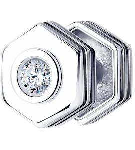Серьга из серебра с фианитом 94170150