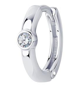Серьга из серебра с фианитом 94170151