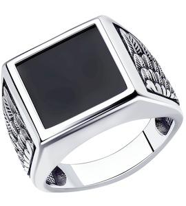 Кольцо из серебра с наношпинелью 95010176