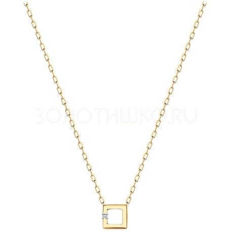Колье из золота с фианитом 070478