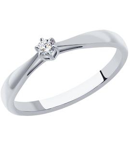 Кольцо из платины с бриллиантом 1011346-10