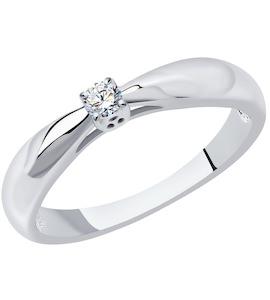 Кольцо из платины с бриллиантом 1011465-10