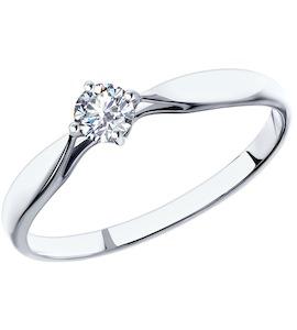 Кольцо из платины с бриллиантом 1011501-10