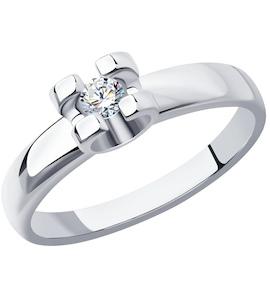 Кольцо из платины с бриллиантом 1011680-10