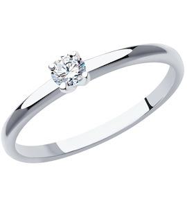 Кольцо из платины с бриллиантом 1011909-10