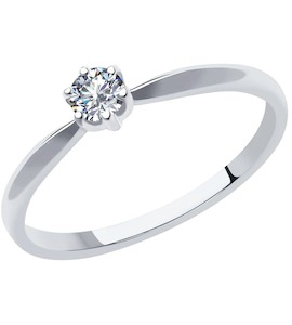 Кольцо из платины с бриллиантом 1011978-10
