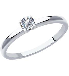 Кольцо из платины с бриллиантом 1012030-10