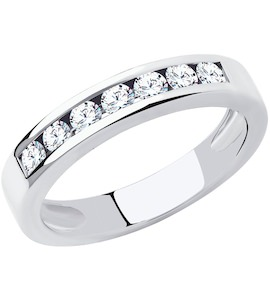 Кольцо из платины с бриллиантами 1012073-10