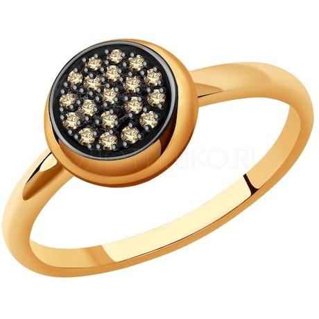 Кольцо из золота с бриллиантами 1012110