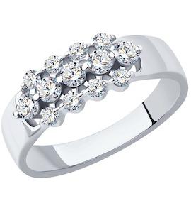 Кольцо из платины с бриллиантами 1012178-10