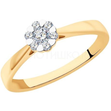 Кольцо из золота с бриллиантами 1012196