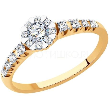 Кольцо из золота с бриллиантами 1012199