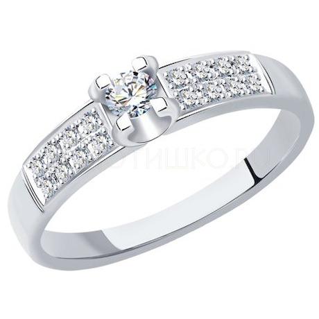 Кольцо из белого золота с бриллиантами 1012217-3