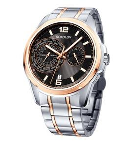 Мужские стальные часы 340.76.00.000.06.02.3