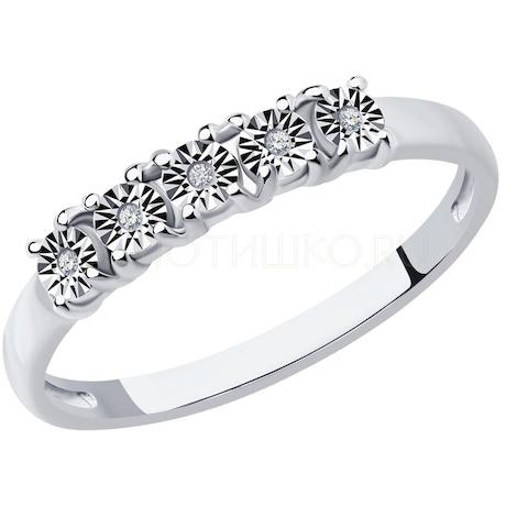 Кольцо из серебра с бриллиантами 87010069
