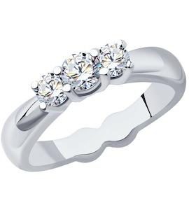 Кольцо из платины с бриллиантами 9010054-10