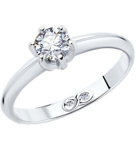 Кольцо из платины с бриллиантами 9010056-10