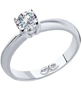 Кольцо из платины с бриллиантами 9010061-10
