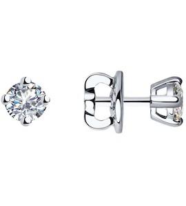 Серьги из платины с бриллиантами 9020017-10