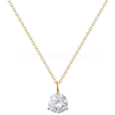 Колье из золота с бриллиантом 9070019-39