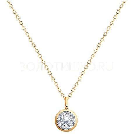 Колье из золота с бриллиантом 9070033