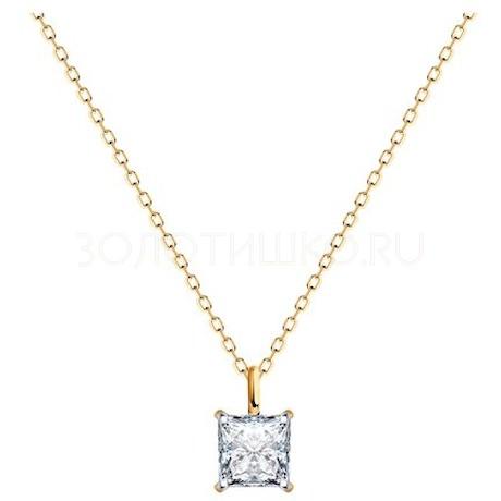 Колье из золота с бриллиантом 9070041-27
