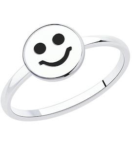 Кольцо из серебра с эмалью 94013464