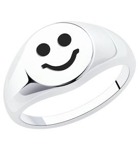 Кольцо из серебра с эмалью 94013466