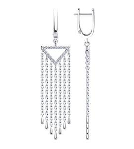Серьги из серебра с фианитами 94023486