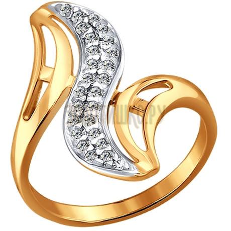 Кольцо из золота с фианитами 015262