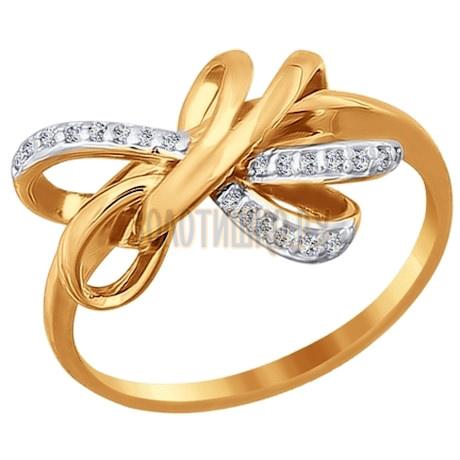 Кольцо из золота с фианитами 015549