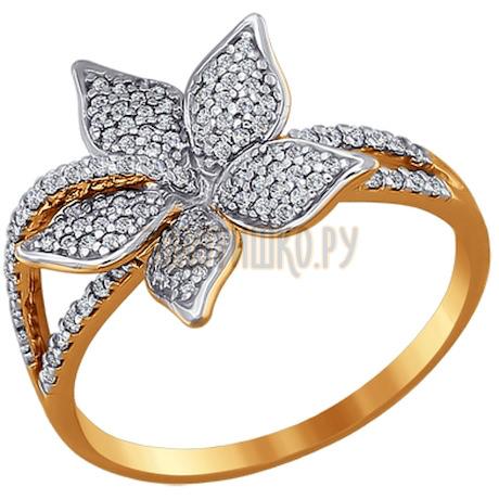 Кольцо из золота с фианитами 015550