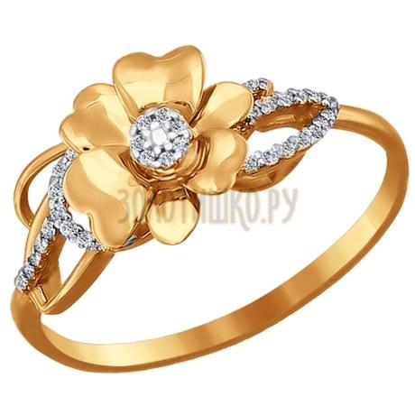 Кольцо из золота с фианитами 015747