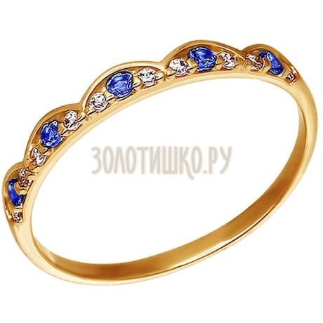 Кольцо из золота с фианитами 015880