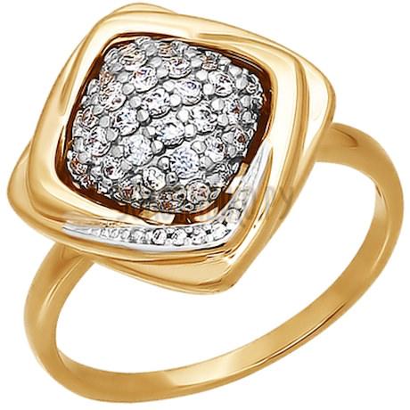 Кольцо из золота с фианитами 015943