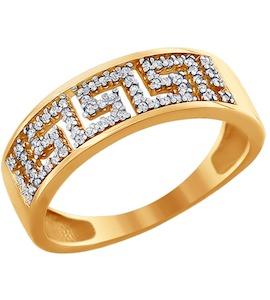 Кольцо из золота с фианитами 016624